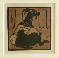 William NICHOLSON VINTAGE 1900 litografia, la capra toilsome