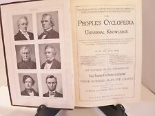 Peoples Cyclopedia of Universal Knowledge Volume 3 1897