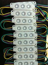 LED Module Lights 100pcs DC 12V 5050 SMD 3-LED Waterproof Module LED Light RGB