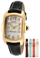 Invicta 13834 Women's Lupah Watch Genuine Leather MOP Dial 18kt. Gold Plated