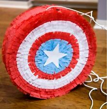 Marvel Captain America Shield Pinata Sweets Birthday Stick Can be personalised