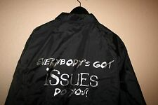 "NEW KORN ""ISSUES"" ALBUM WINDBREAKER JACKET MENS MEDIUM M BAND TOUR VTG SNAP UP"