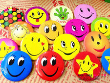 40pcs lovely Cute Smile Face Figure Round Buttons Badges Pin Brooch Gift New