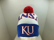 KANSAS JAYHAWKS NCAA TOQUE  KNIT Beanie With Pom top Hat Cap NEW