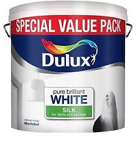 Dulux Pure Brilliant White Silk Emulsion - Walls & Ceilings Paint 6L