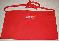 MOLSON CANADIAN BEER WAITER/WAITRESS CHANGE/MONEY POCKET RED APRON NEW