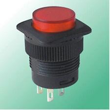 1pc RED 3V Led Latch Locking 16mm OFF-ON Screw Push Switch 110v-250v AC,R13L