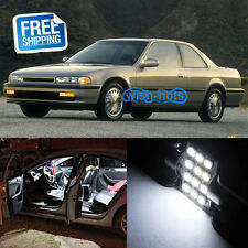 10x White LED Light Interior Bulb Package Replacement Fit 1990-1993 Honda Accord