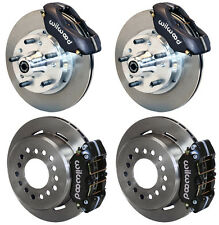 """WILWOOD DISC BRAKE KIT,65-72 CDP C-BODY,11"""" ROTORS,BLACK CALIPERS,LINES,CABLES"""