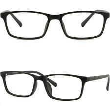 Thin Light Men's Women's Frames Bendable TR90 Memory Plastic Glasses Matte Black