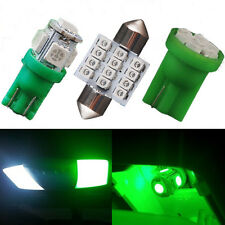 10Pcs T10 & 31mm  Green LED Lights Interior Package Fit Map Dome & License Plate