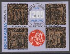 v929 Nicaragua/ Kunst   MiNr Block 139 o