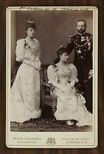 Prince Valdemar of Denmark and Princesses Louise and Maud of Wales Photo cabinet