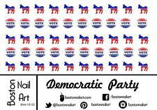 Democratic Party Waterslide Nail Decals - 50pc - BNA-10155
