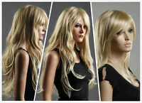Fashion Ladies Long Blonde Wig Straight Wavy Vogue Wigs Cosplay Costume Wig Wigs