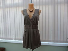 BNWT Next occasion top pure silk,lined, sz 20
