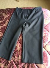 BM Cropped Trousers Size 12 Navy