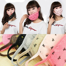 Fashion Girls Cotton Bowknot Cycling Anti-Dust Cotton Mouth Face Mask Respirator