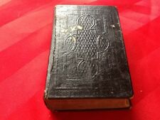 "Rare Antique New Testament 5""X 3"" German Bible Dr. Martin Luther 1865"