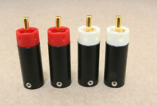 Star Line GOLD Plated Tellurium Copper RCA Plugs connectors cable