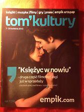 Robert Pattinson Twilight Saga: New Moon in Polish TOM KULTURY magazine magazin