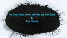 Pure Whitening Tooth fine Powder Activated Coconut Charcoal Highest Grade 50g