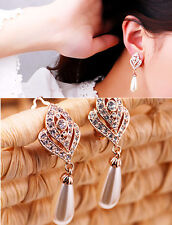 1 Pair Fashion Women Lady Elegant Crystal Rhinestone Ear Stud Earrings Charm INC
