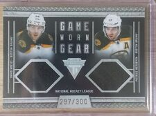 2011-12 Panini Game Worn Gear David Krejci / Patrice Bergeron (41) [297/300]