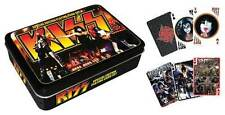 KISS  2 FULL DECKS OF CARDS IN DISPLAY TIN - armageddon gift tin