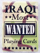 NEW SEALED DECK OF IRAQI MOST WANTED BICYCLE PLAYING CARDS