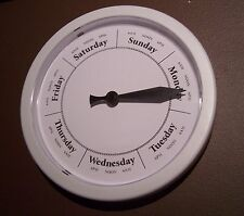 Day of the Week Clock Black and White Daily Day Clock with White frame