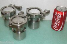 EAGLE STAINLESS STEEL 0.110ml BOTTLE STB-110 with GASKET, CAP & CLAMP container