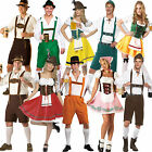 Mens German Bavarian Oktoberfest Ladies Beer Maid Fancy Dress Costume Lederhosen