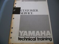 Yamaha Factory Technical Training 1985 Customer Service Manual.