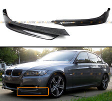 FOR BMW 2009-2011 E90 E91 3-SERIES 4DR SEDAN CARBON FIBER FRONT BUMPER SPLITTERS