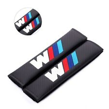 2X Black Car Seat Belt Cover Pads Shoulder Cushion for BMW M1 M3 M5 X1 X3 X5 X6