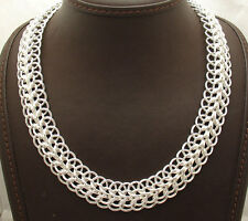 """18"""" Bold All Shiny Domed Multi Circle Necklace Chain Real Sterling Silver 925"""