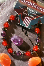 VIRGO-Lucky Birthstone & Talisman 'Power Bracelet' Plus free book & Bookmark