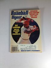 """Baseball Digest Magazine, March 1991, Ray Lankford, """"One Owner"""" Of Magazine"""