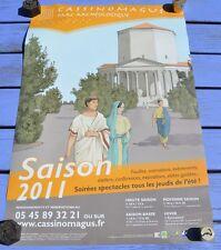 Affiche Chassenon site antique de Cassinomagus, saison 2011, 60 x 40 cm, couleur