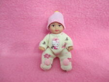 VINTAGE BARBIE BABY KRISSY BROWN HAIR + NEW OOAK CLOTHES HELLO KITTY JUMPER HAT