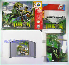 NINTENDO 64 GAME COMPLETE ADULT OWNED - TUROK DINOSOUR HUNTER - 1997