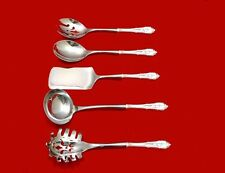 Rose Point by Wallace Sterling Silver Hostess Set Gift 5pc Server Custom HHWS