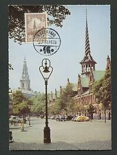 Denmark Mk 1963 Copenhagen Exchange Bourse maximum carte MAXIMUM CARD MC cm d1958