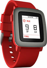 pebble Time Smartwatch Red
