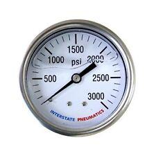 """Oil Filled Pressure Gauge 3500 PSI 2-1/2"""" Dial 1/4"""" NPT Rear Mount - G7122-3500"""