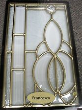 Architectural Beveled Glass Window, Salesman Sample, Miniature, Francesca