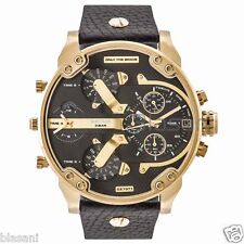 Diesel Original DZ7371 Mr Daddy 2.0 Black Leather Strap Chrono Watch 57mm