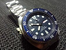 Seiko Mens SRP773 Turtle 45mm Japan Automatic 4R36 Blue Dive 200m Watch, SRP777