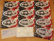 1999-2008 PLATINUM PLATED - CSN Mint State Quarter Collection 10 sets 50 coins